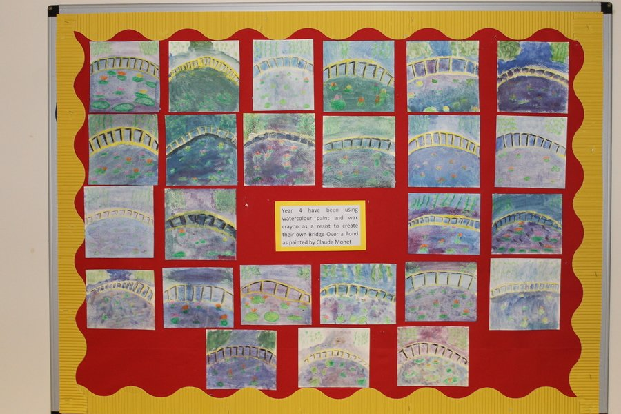 We have been learning to paint in the style of Monet