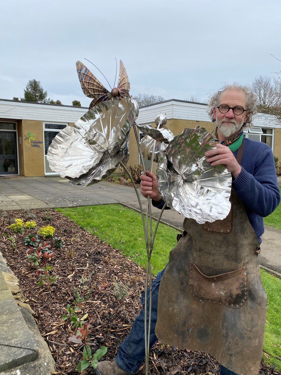 Our beautiful new sculpture by Steve Blaylock