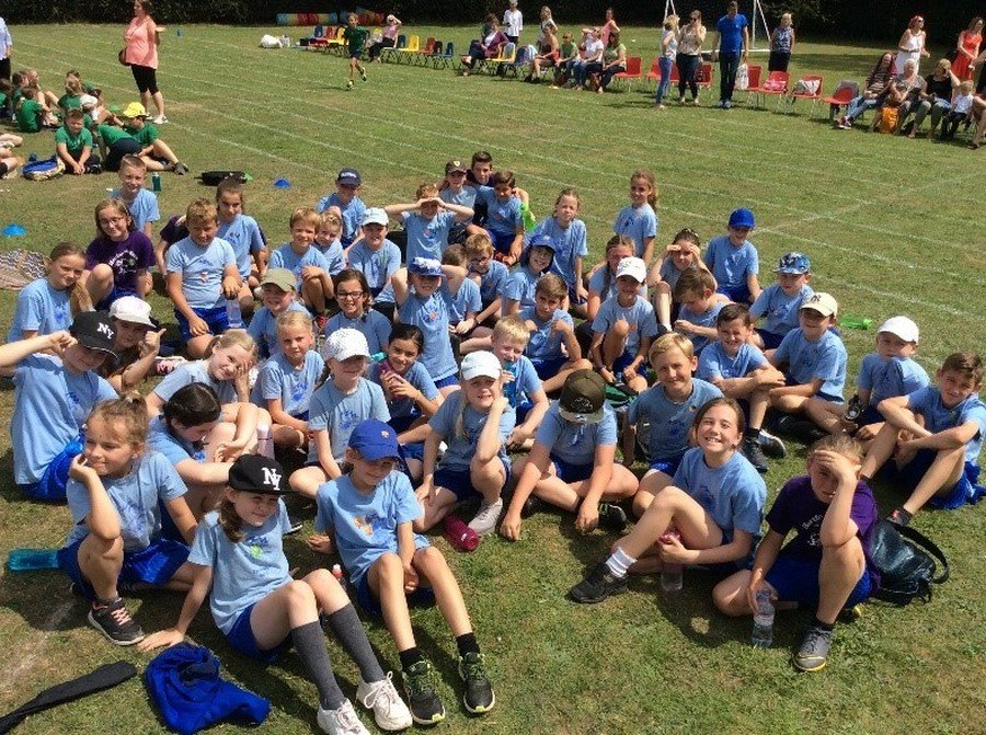 "All the juniors took part in Cluster Sports on the morning of 10th July. This year it was held at Stapleford School with Tonwell and Puller Memorial schools making up the 4 schools competing. The morning consisted of many traditional sports day races along with some novelty team events, ending with a shortened ""cross country"" event. In this our ""Awake and Active"" mornings clearly are having a good effect with Thundridge School winning all the long distance races.  The overall winners this year, were Stapleford School with Thundridge School coming a very good second. Well done to all the children."
