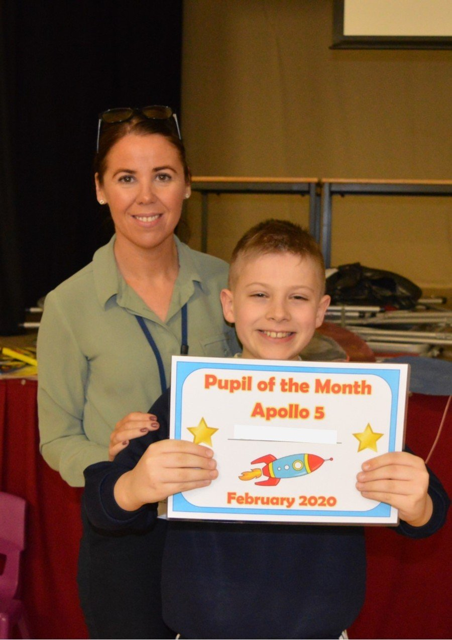 Middle School  Pupil of the Month-February