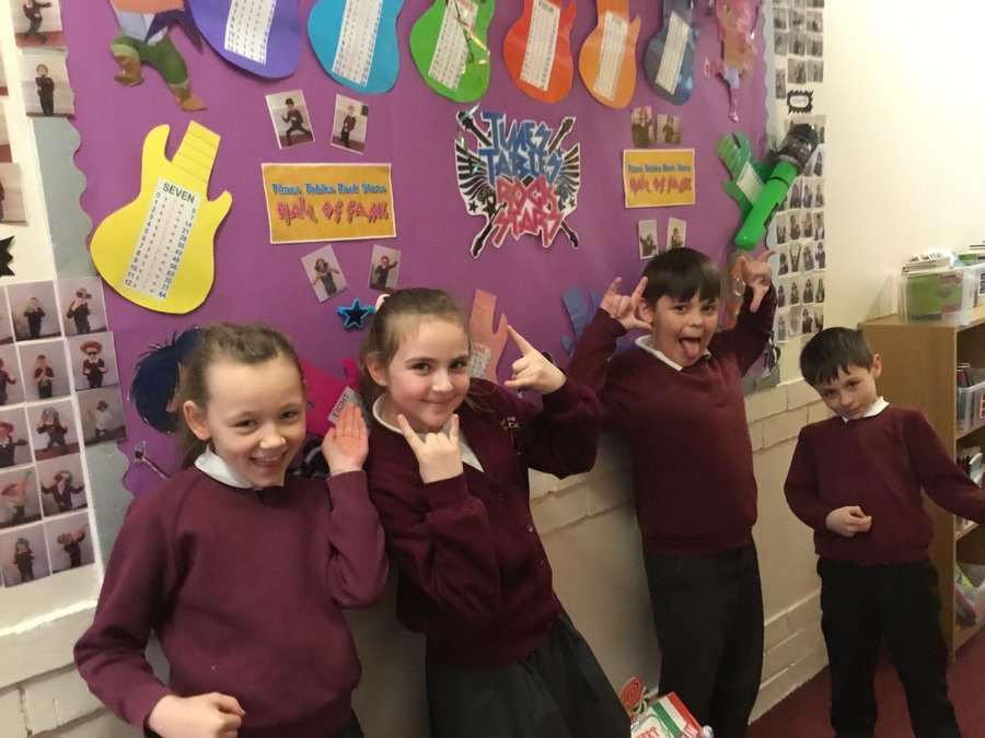Our Times Tables Rockstars Champions wc 24/2/20