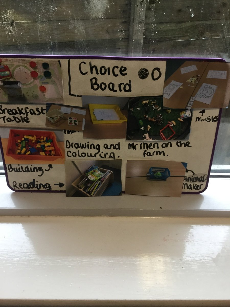 Our choice board from WB 24th Feb 20