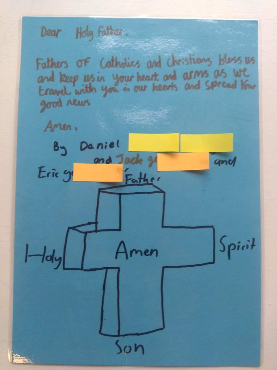 Prayer created by Children