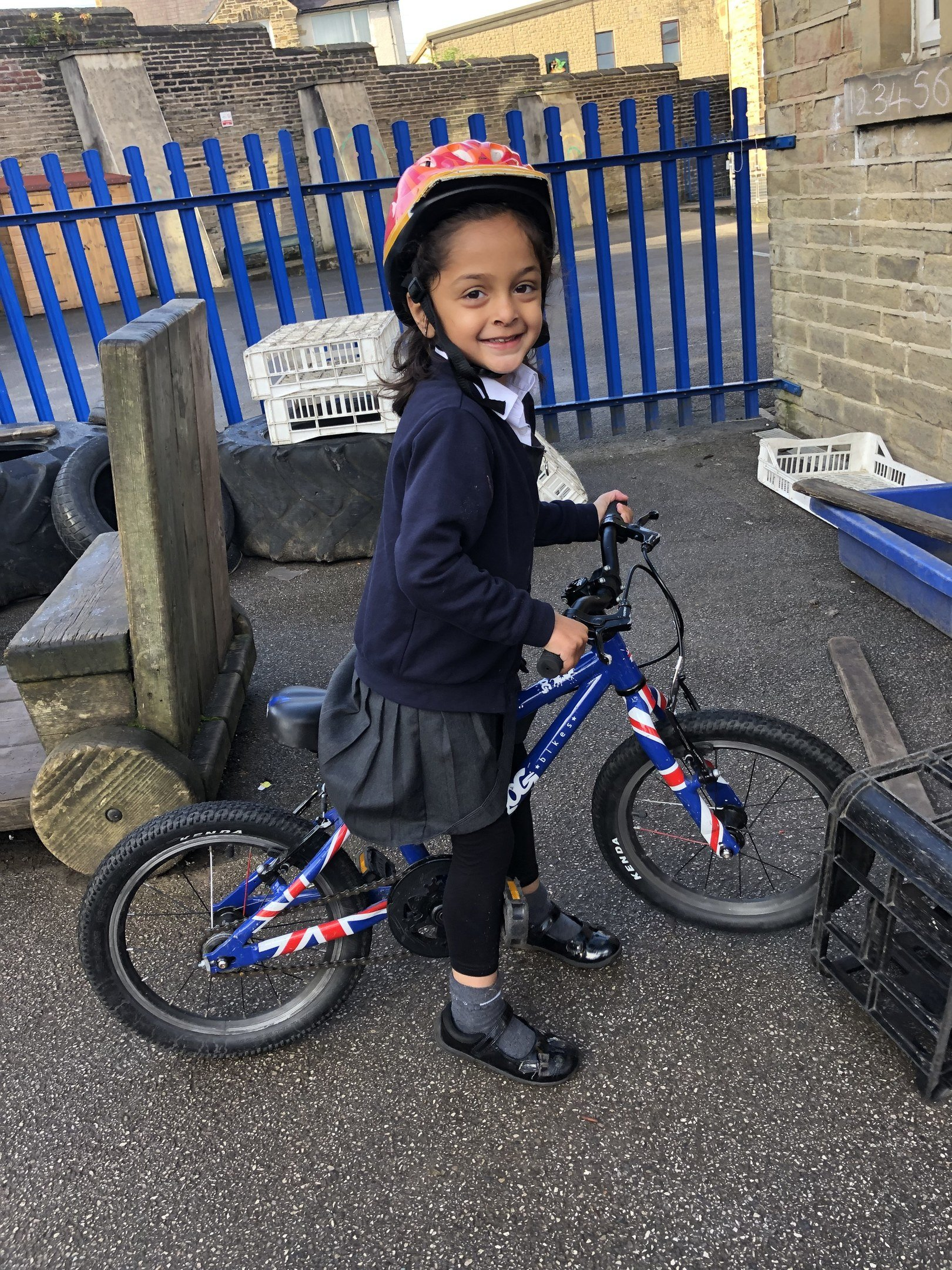Child enjoying the Cycling Club