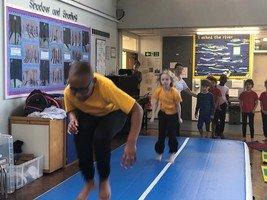 Gymnastics sessions for Year 3 run by LAGAD