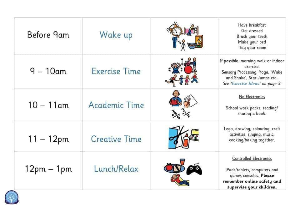 Image result for home learning timetable EYFS