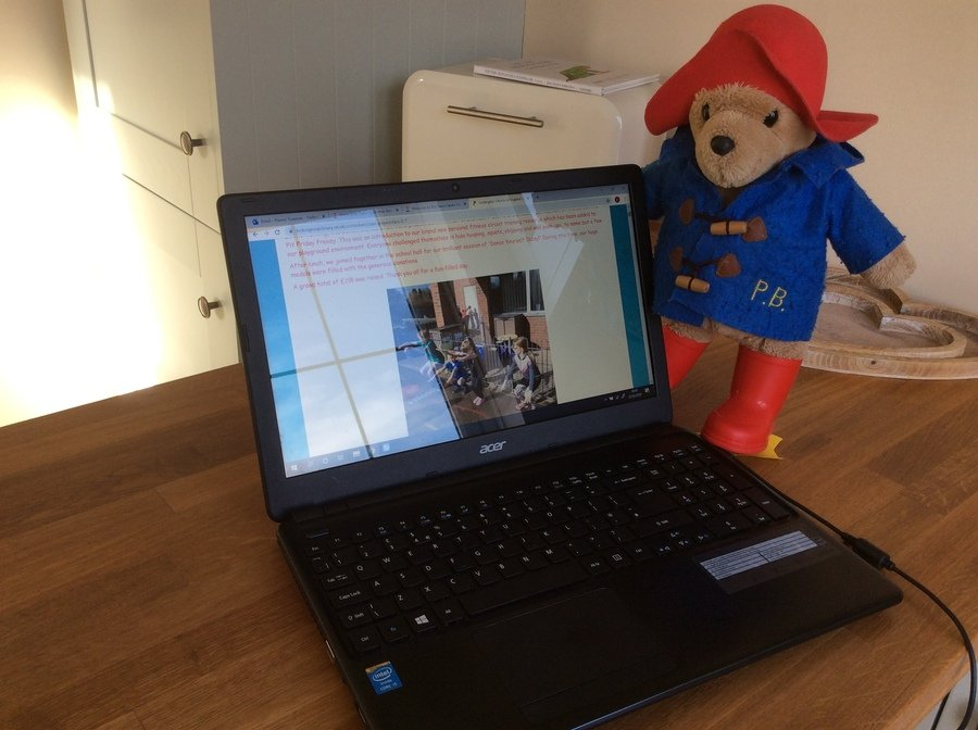 Each week, Paddington will oversee the new tasks and activities. Keep checking our Class 2 page to see what other adventures he gets up to whilst he's staying with Mrs Trueman... things could get messy!