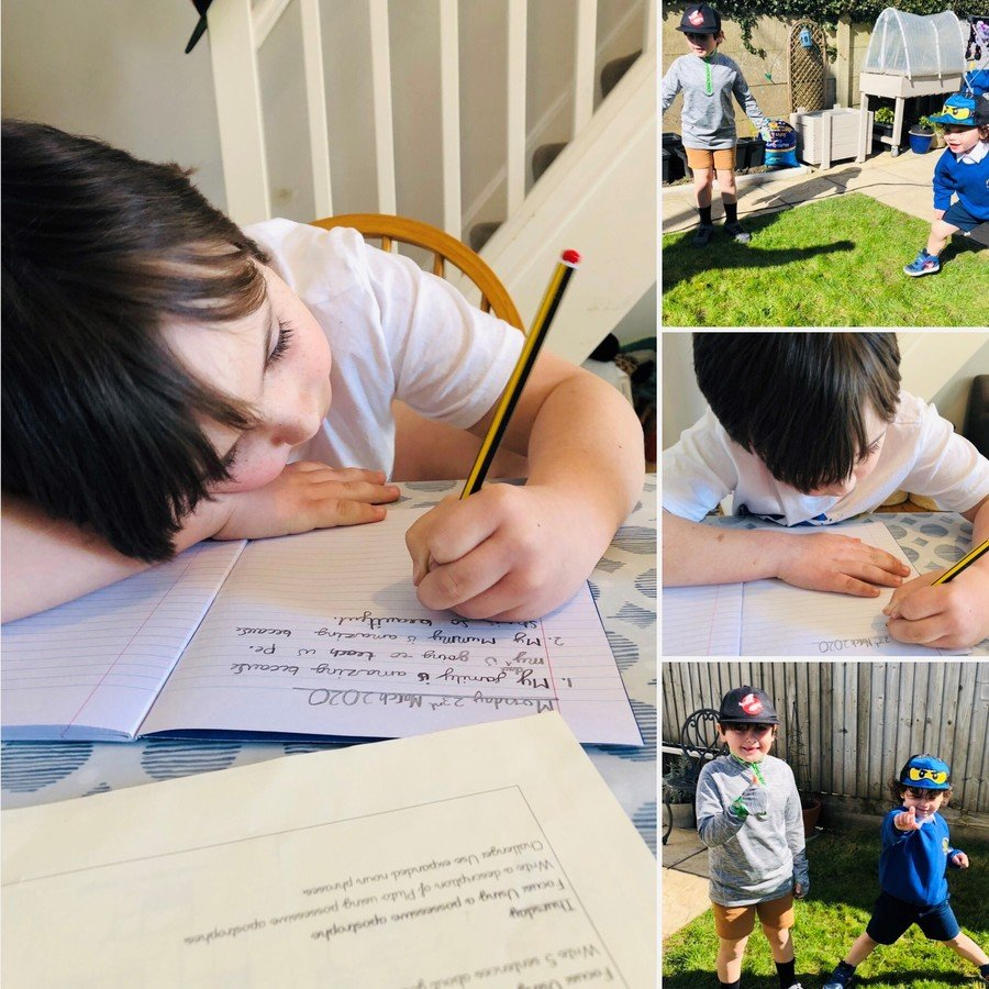Day one-English, Maths & PE in the garden