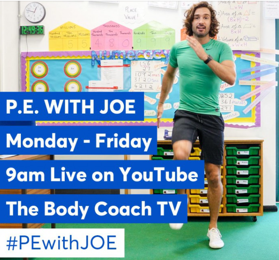 Some of you may already be doing some PE in the morning with Joe Wicks, if you are not, click on the picture and it will take you to the website. Keep active and have fun!!