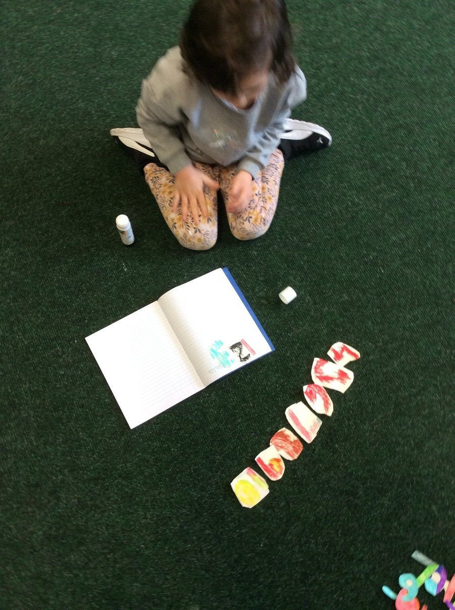 Making my own 1-10 numberline