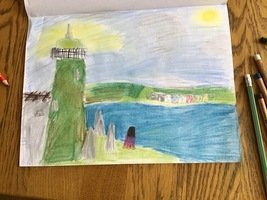 Lila's Lighthouse Art