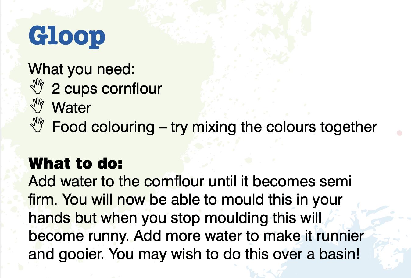 Gloop Instructions