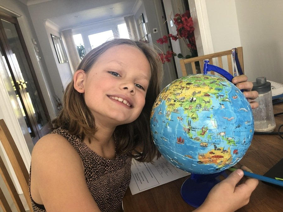 This is a great way to learn about the planet. I love the puzzle you have created and it is fantastic to see you loving the learning. Well done!