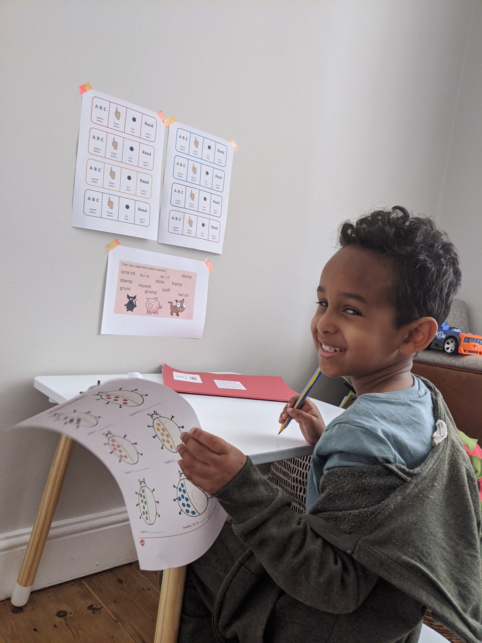 Yusuf, its super to see you doing your maths work!