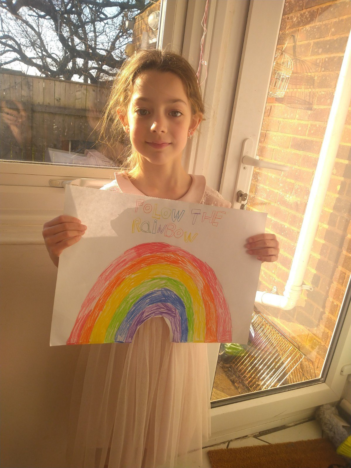 Rosie's colourful rainbow
