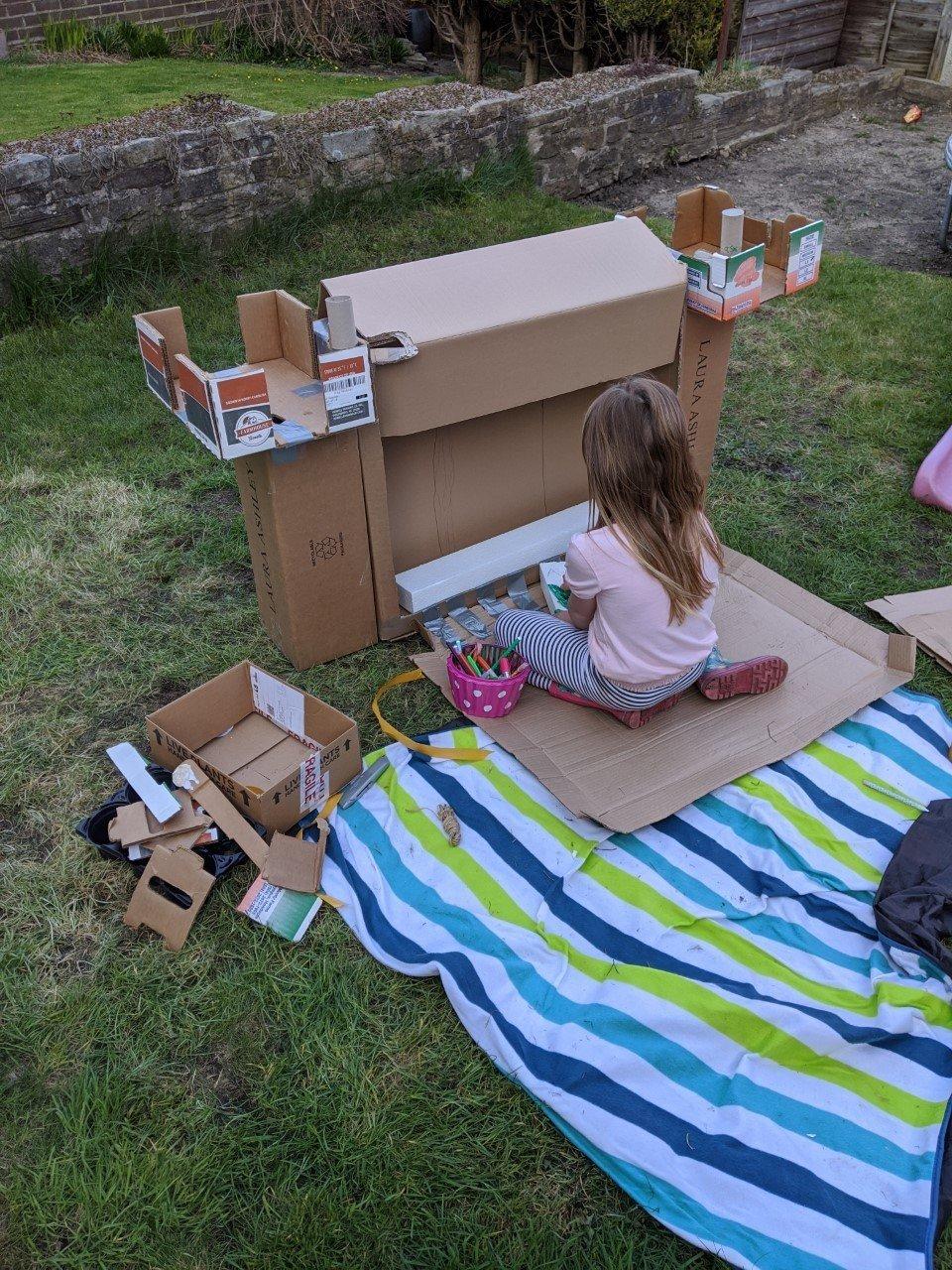 Ava making her castle!