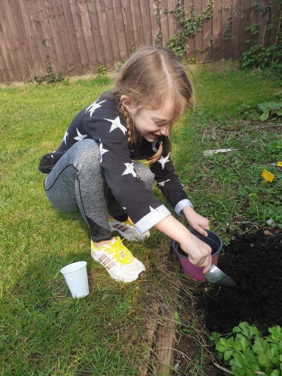Maddie planting