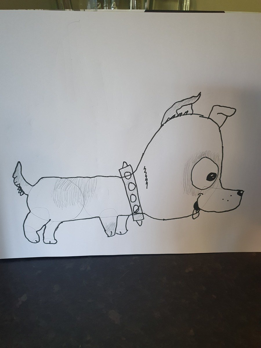 A fantastic drawing of a dog by Pippa