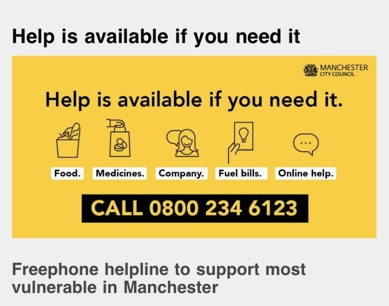 Manchester City Council Helpline