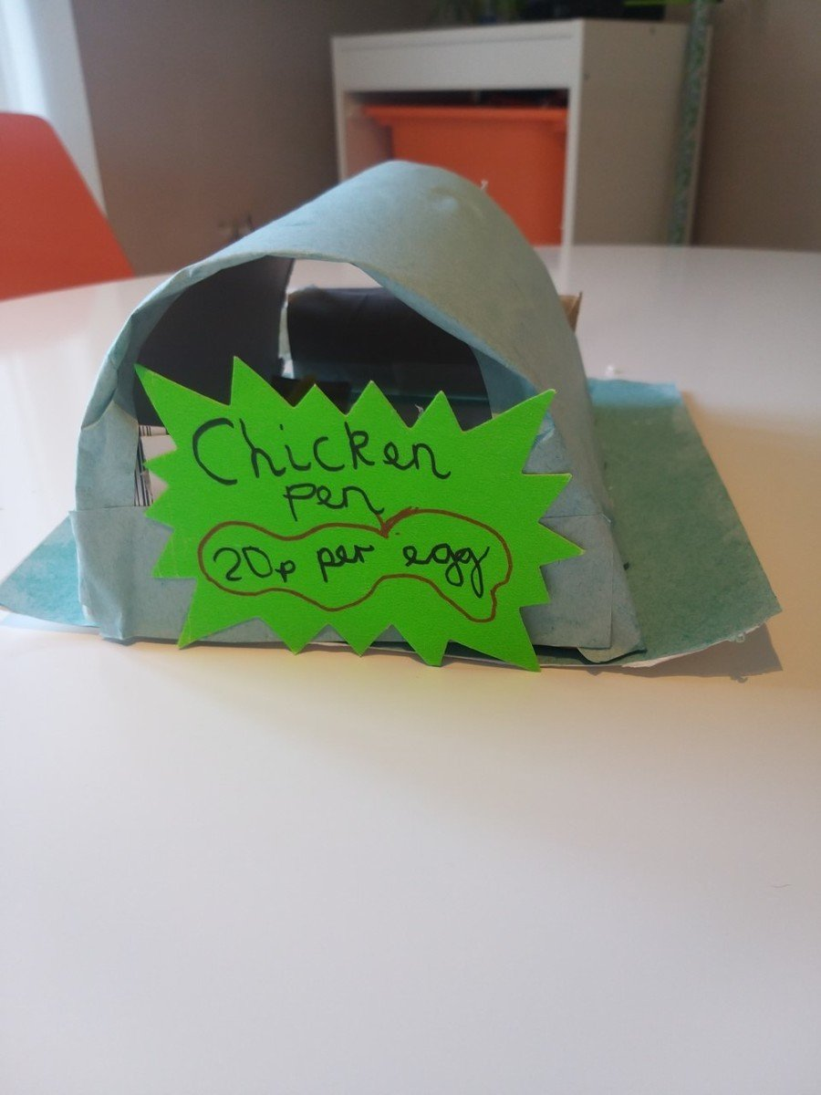 Max Fisher (3F) has been showing his creativity by building a model from his recycling.
