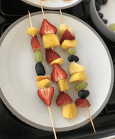 Libby has made some Fruit Kebabs!