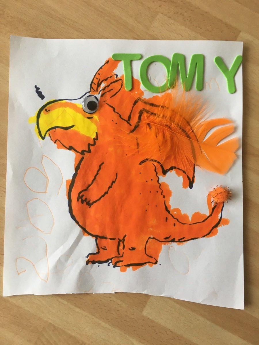 A fab drawing of Zog by Tommy!