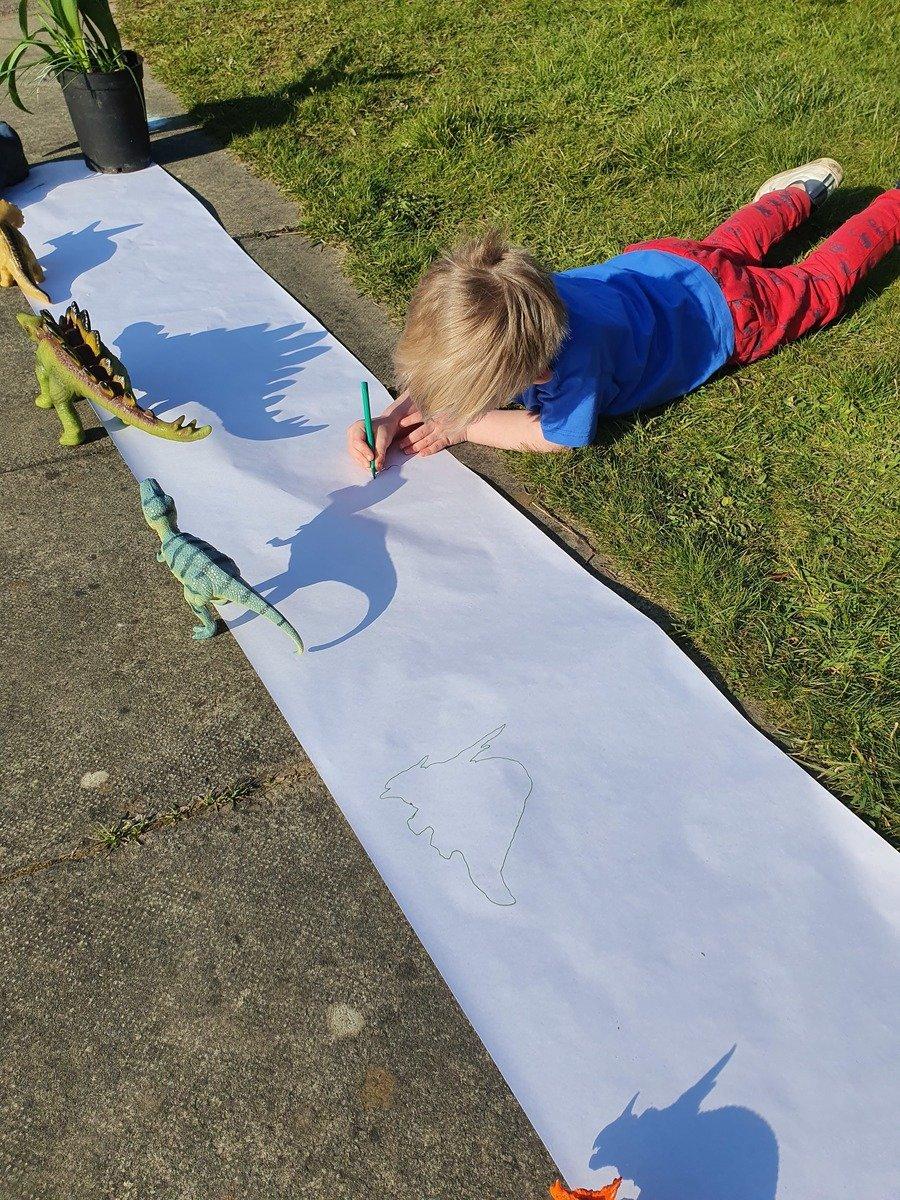Brilliant shadow dinosaurs by Teddy!