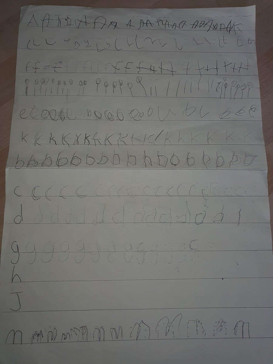 Some fantastic letters by Alfie!