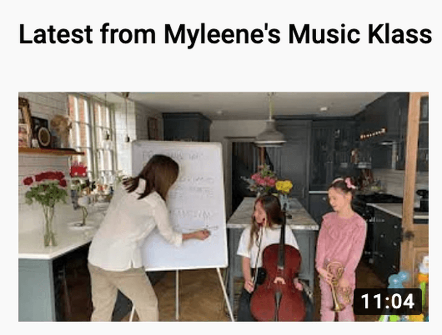 Myleene is doing a live music class on Youtube every Monday and Friday at 10am. Find previous classes on her page.