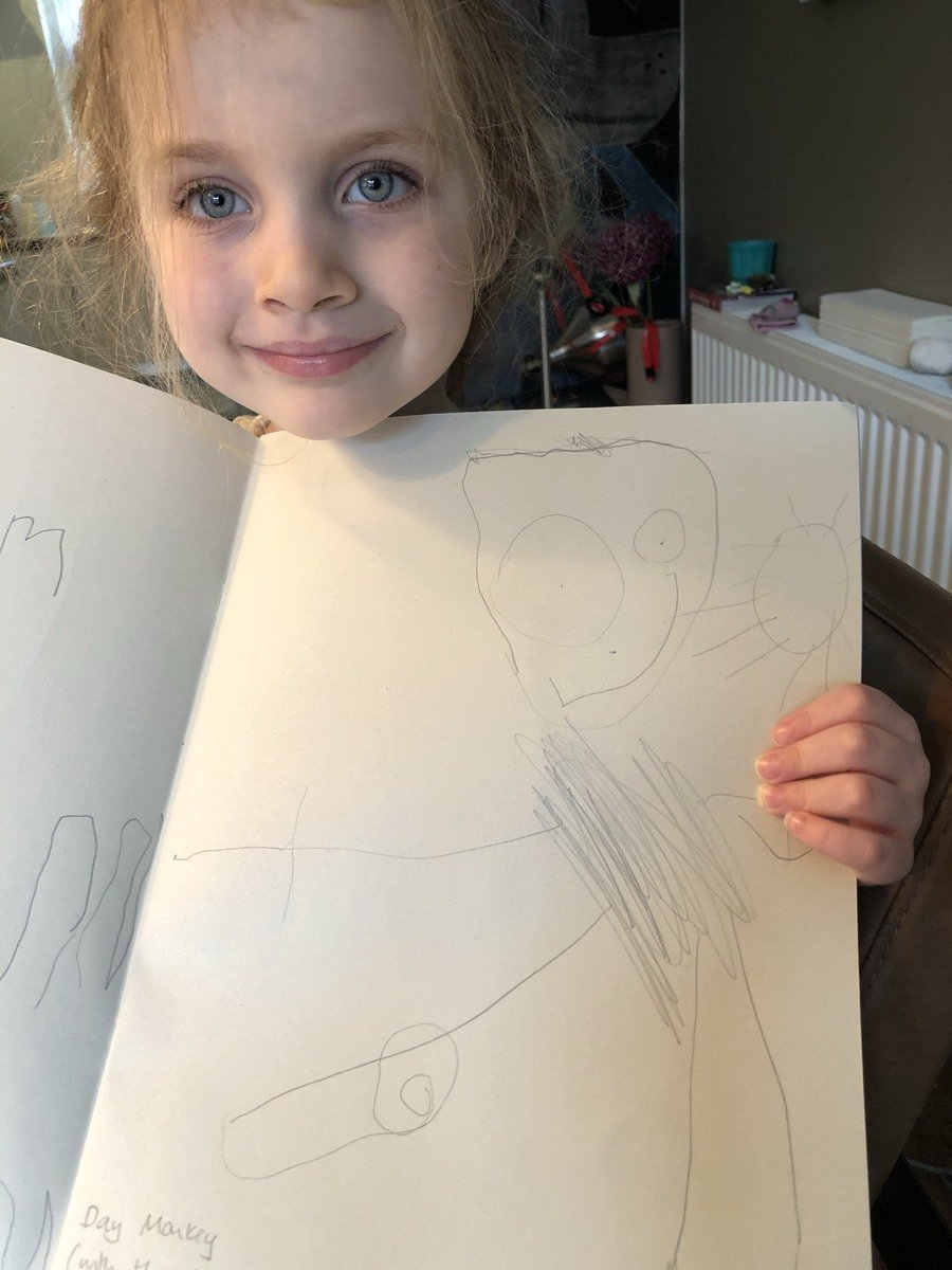 Cora, I love your monkey picture! Thank you for sending it in.