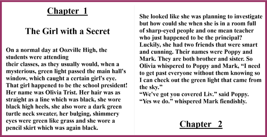 What brilliant writing features can you see in this opening chapter?