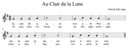 Au Clair de la Lune