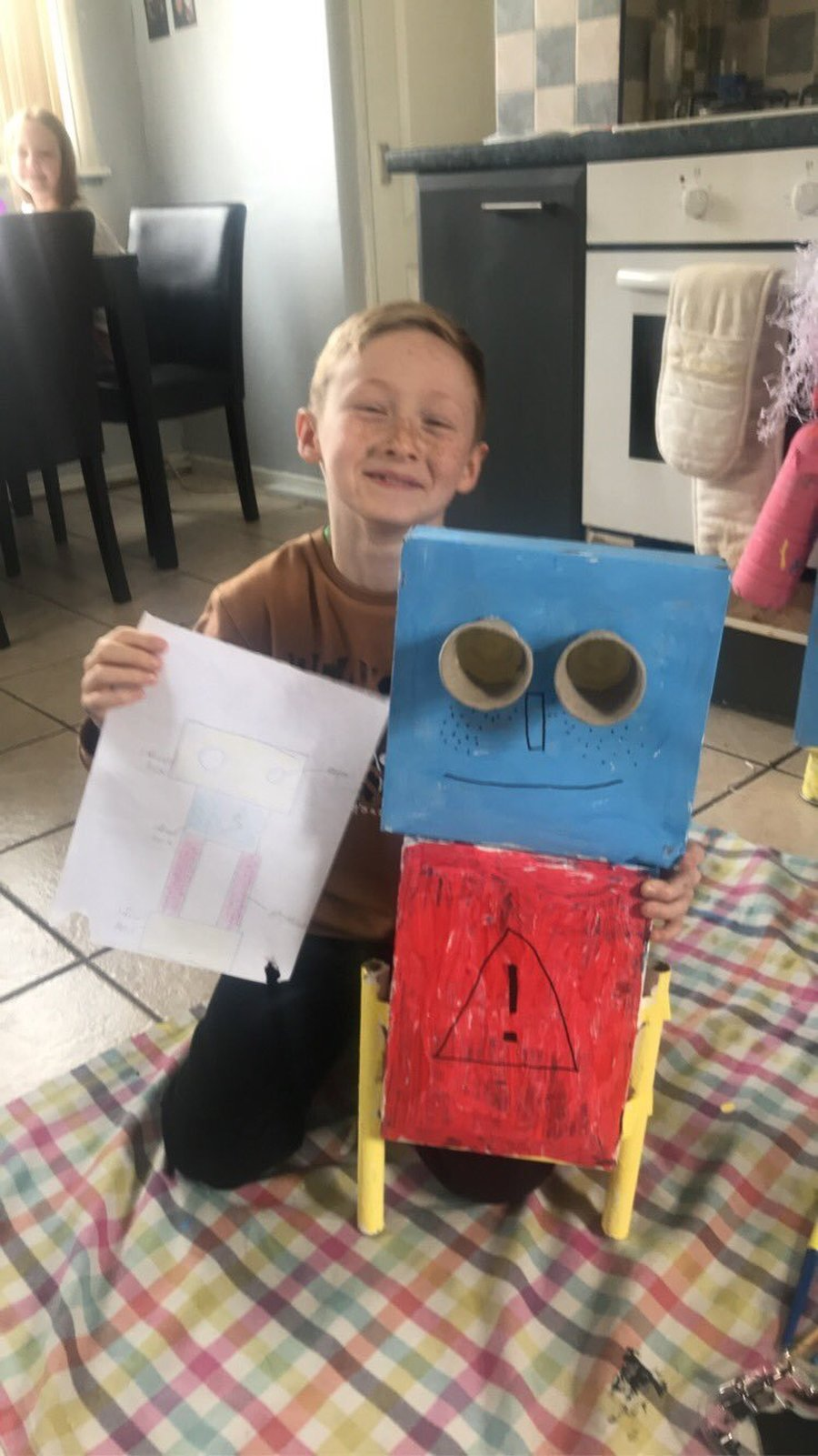 We love this robot made by Charlie!