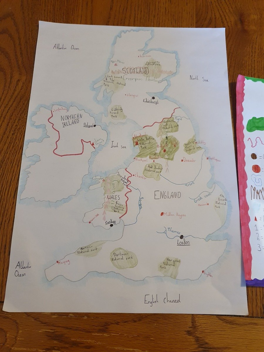 What an amazing map of the UK by Orla!