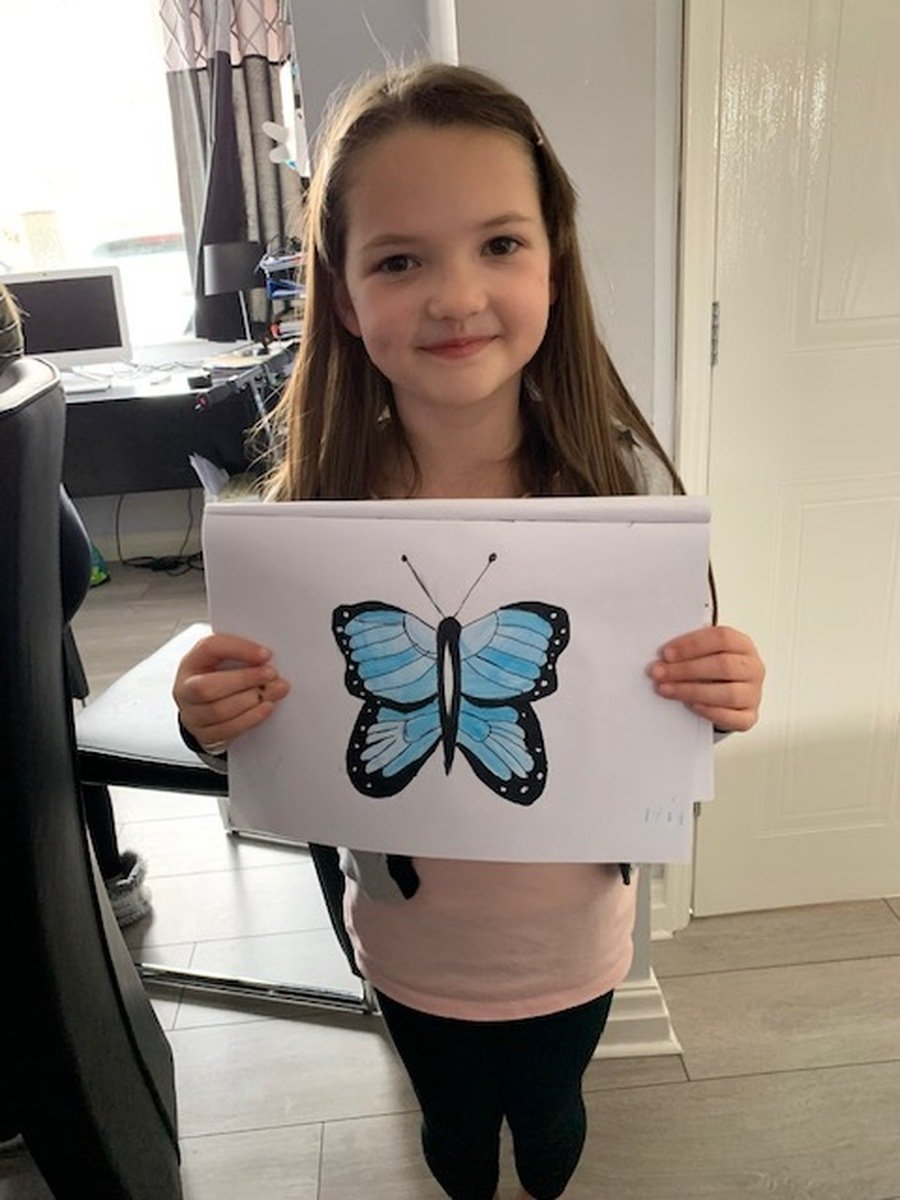 Year 3 Paige's Blue Morpho butterfly