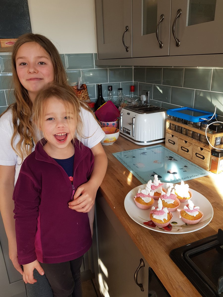 Year 1 Rowan and Year 6 Poppy - Baking
