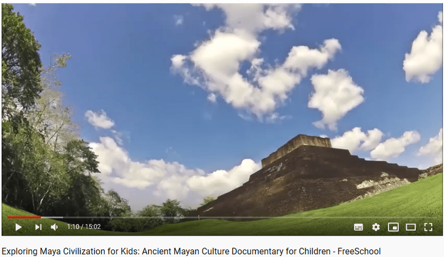 Click on the picture to watch a video about the Ancient Mayans.