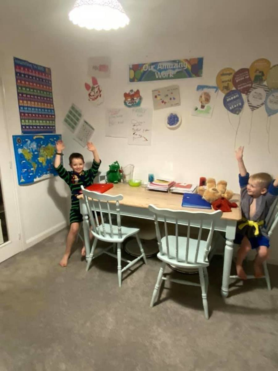 WOW! Check out Seb and Mason's Home Learning Classroom!