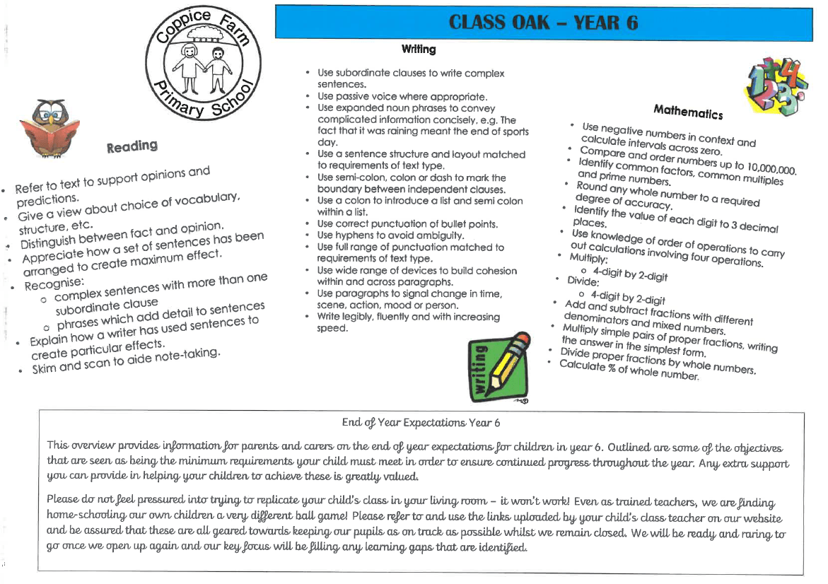 Y6 OBJECTIVES - IMAGE
