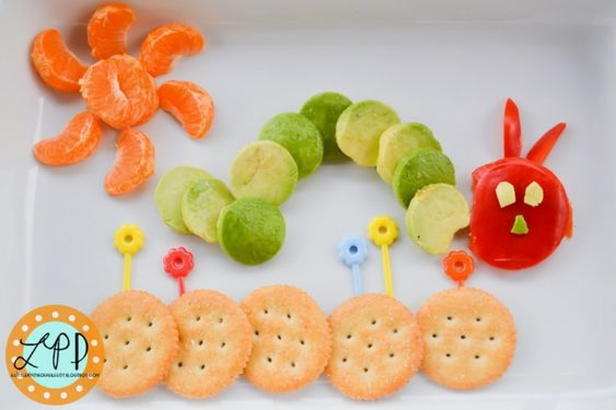 Make your lunch into a Hungry Caterpillar and then gobble it all up