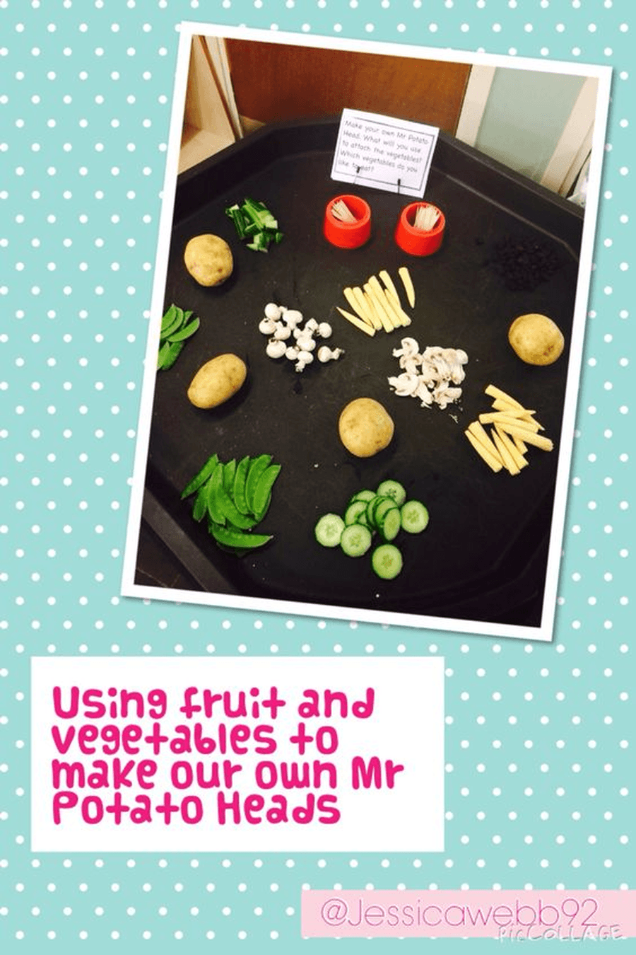 Make your own Mr Potato Heads. What would they say? Can you label him?