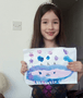 Olivia's art inspired by Miss Hawkins