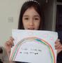 Olivia's beautiful rainbow!