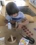 Dylan making some Easter baskets!