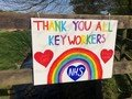 Isabel's Thankyou sign for Key workers