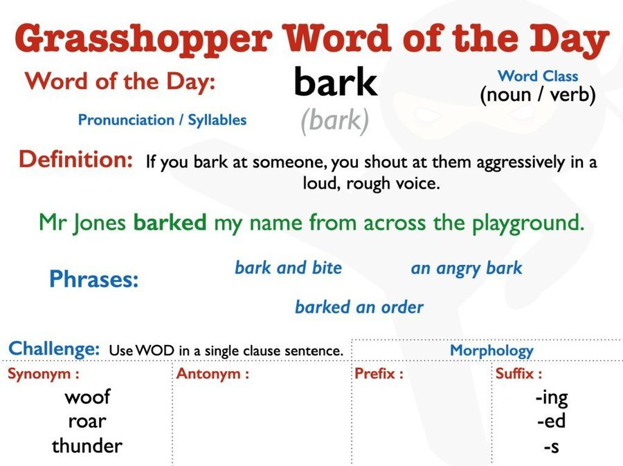 Y3/Y4 Word of the Day 20/04/20