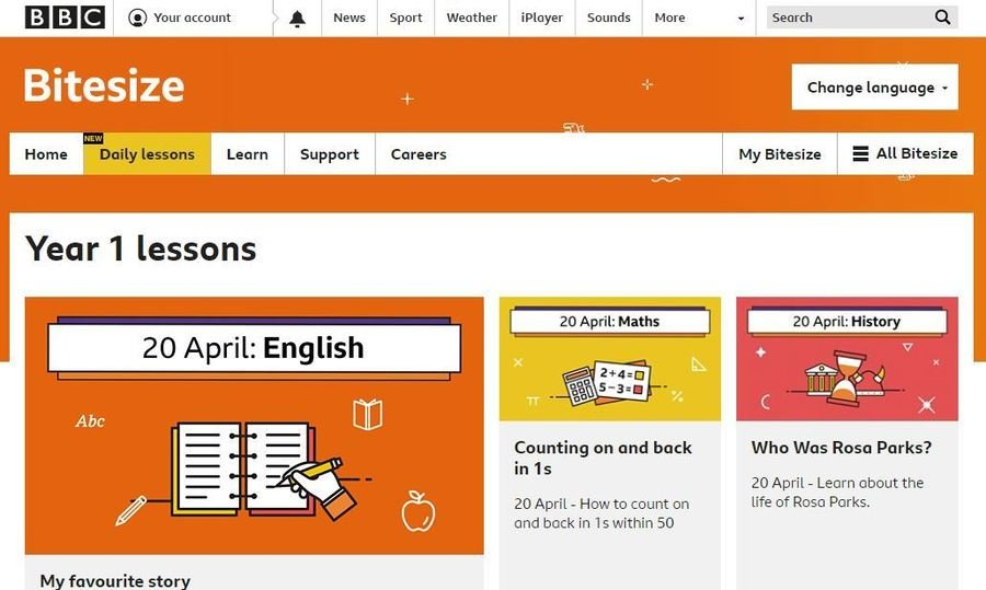 BBC Bitesize daily lessons