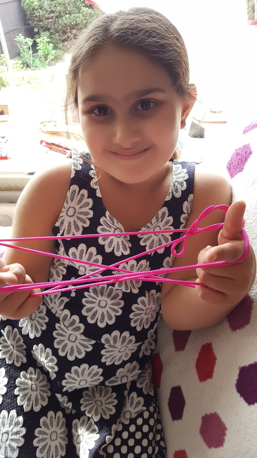 Louise (Y4) learning Cat's Cradle