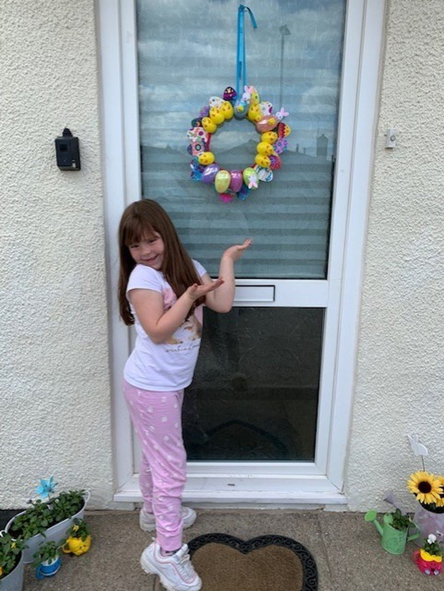 Ruby Y2 Easter Wreath