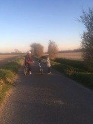 A bike ride with sister Chloe.
